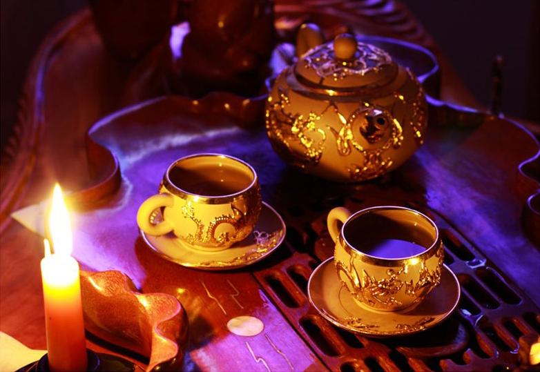 Открытка чай на двоих